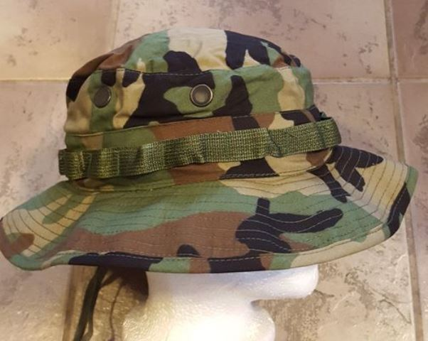 USGI Woodland boonie hat size 7 7 8 fd4e9a12d01