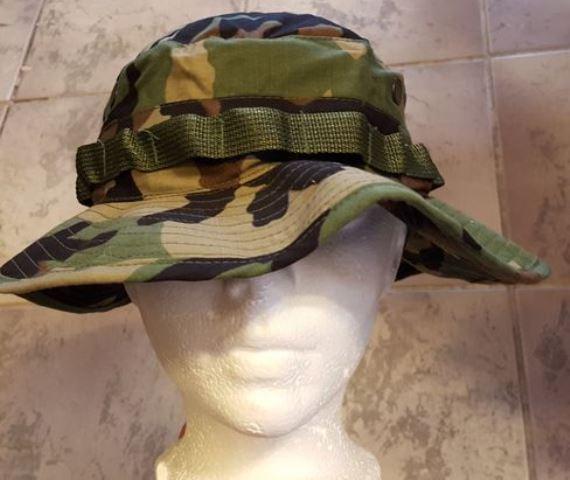 USGI Woodland boonie hat size 7 1 4 ed7d8e85caf