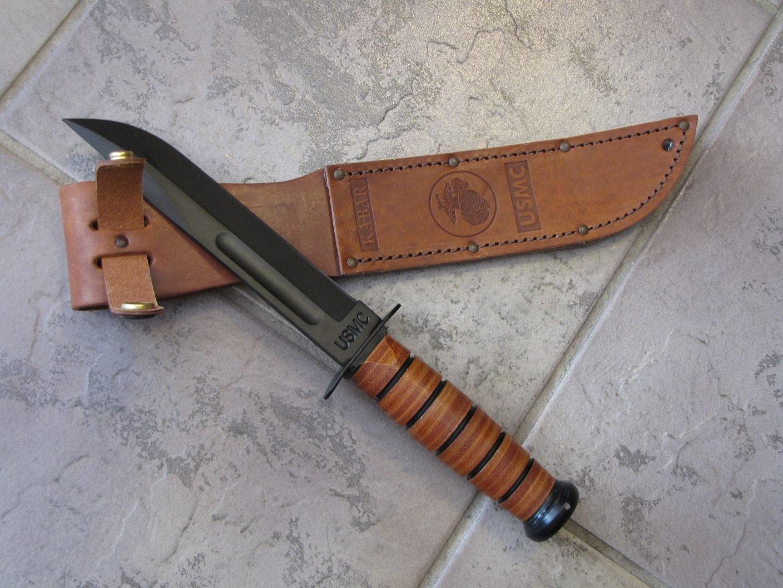Ka Bar Full Size Us Marine Corp Fighting Knife Straight