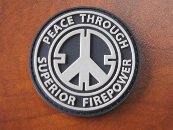 Peace Through Firepower Army Issue